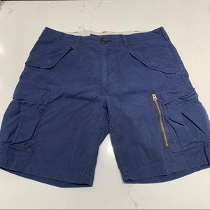 Polo Ralph Lauren Blue Cargo Shorts Sz34